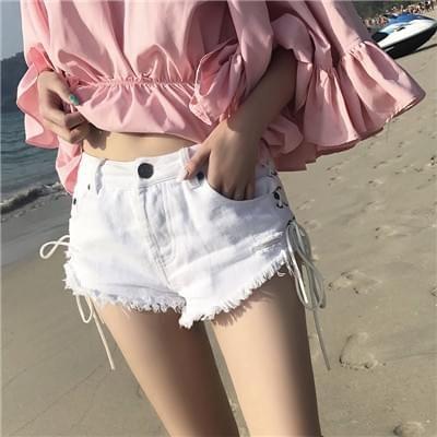 白色牛仔裤