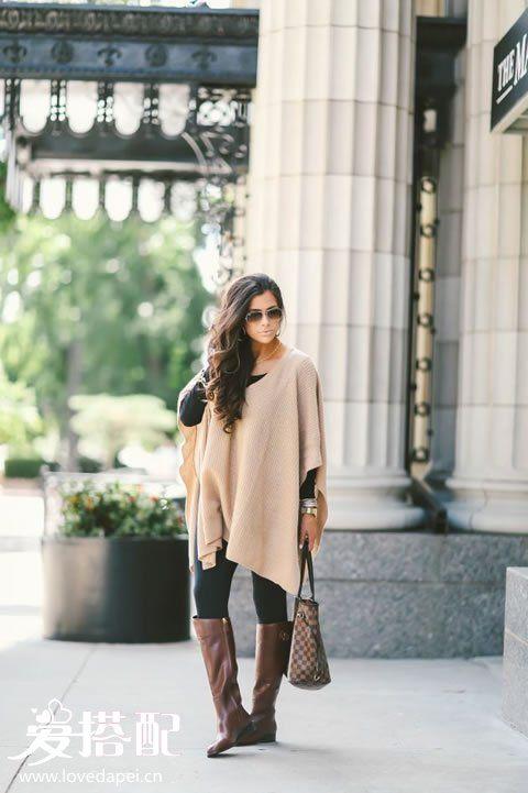 秋季棕色衣服搭配